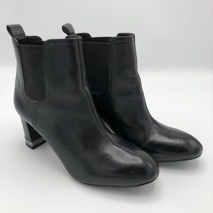 Tory Burch Black Ankle Leather Boots